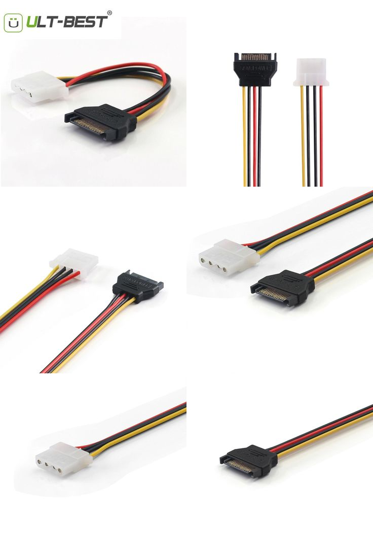 [Visit to Buy] ULT-Best SATA Power Extension Cable Serial ATA 15pin Male to Molex IDE 4pin Female  Power Supply for BTC Miner Machine 15CM #Advertisement