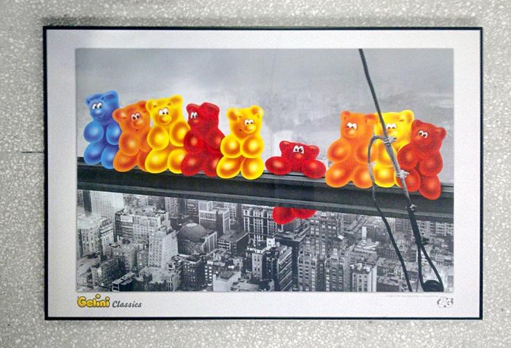 Nowy Jork - Robotnicy - Żelki - plakat - Galeria Plakatu