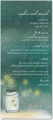 Signature White Menu Cards Simple Pleasures - Front : Willow