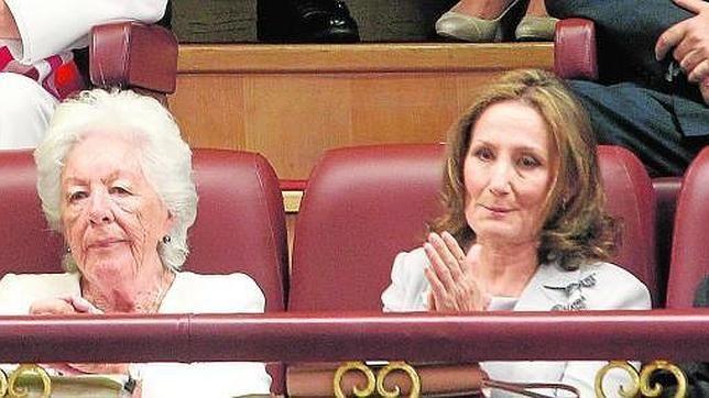 La madre de la Reina Letizia, Paloma Rocasolano y su abuela paterna Menchu Álvarez del Vall