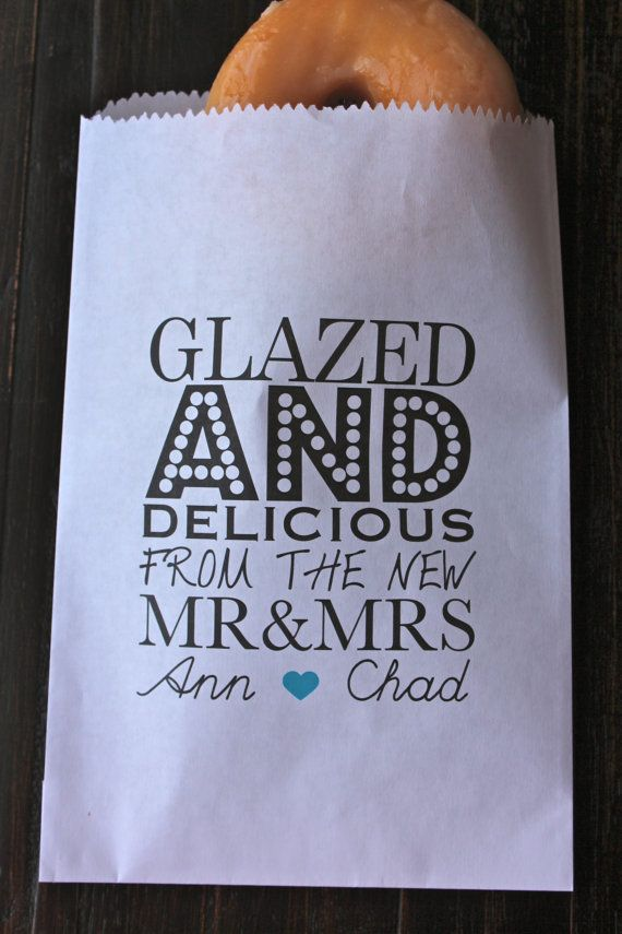 Glazed and Delicious Wedding Favor Bags/ Personalized Favor Bags on Etsy, $13.75