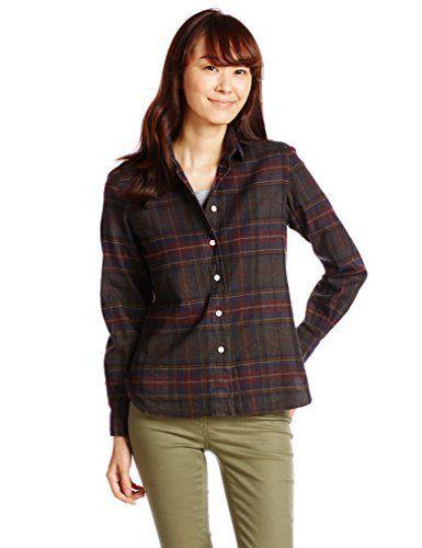 【ブラウス】ジムフレックス Gymphlex バンドカラービエラ起毛チェックシャツ J-1177VHC - http://ladysfashion.click/items/94031