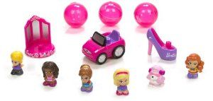 """Blip Squinkies Barbie Bubble Pack - Series 6 - Glam with Tiny Toys by Squinkies. $14.97. Squinkies - the hottest toy around. Collect them all. 100's of squinkies to collect. Collect Barbie Squinkies in all her favorite occupations barbie as a pet vet, artist, pizze chef and hollywood star. Barbie's pet friends also join in the fun. From the Manufacturer                Barbie is """"all she can be"""" in these new squinkies bubble packs. Collect barbie squinkies in all her favorite occu..."""