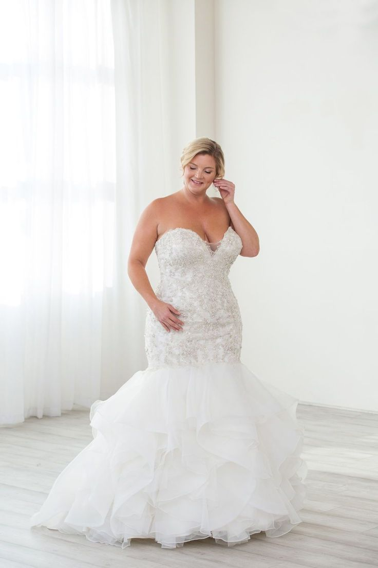 Portland Or Bridal Boutique Fitted Plus Size Wedding Dress Strapless Mermaid Wedding Gown Plus Size Wedding Gowns Pregnant Wedding Dress Wedding Dresses [ 1104 x 736 Pixel ]