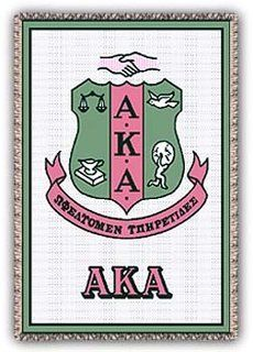 Alpha Kappa Alpha Afghan Blanket Throw