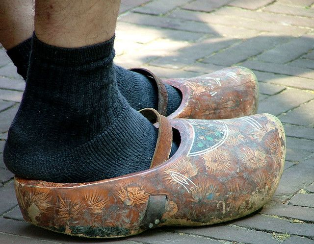 Well worn clogs from Friesland