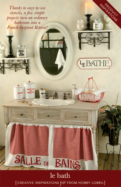 Beau HobbyLobby Projects   Le Bath   Love The Shelves On Each Side Of The Mirror