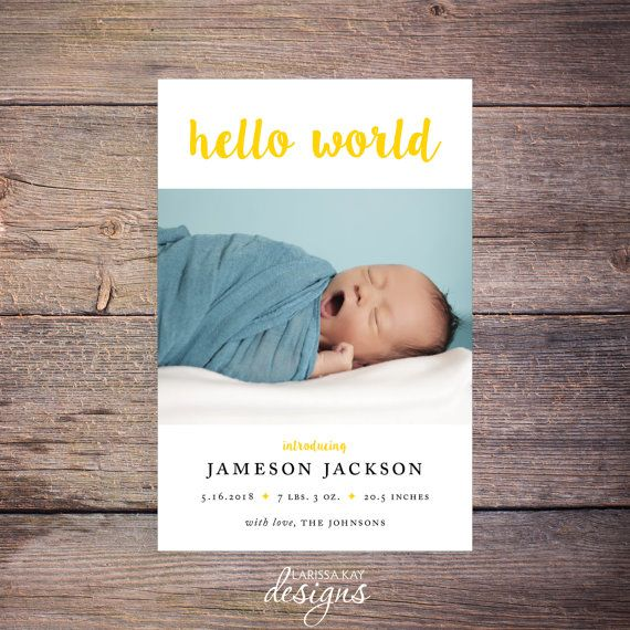 12 best BABY BIRTH ANNOUNCEMENT images – Baby Announcement Cards Etsy