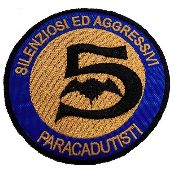 Patch-omerale-2° Battaglione Paracadutisti 5^ cp. PIPISTRELLI