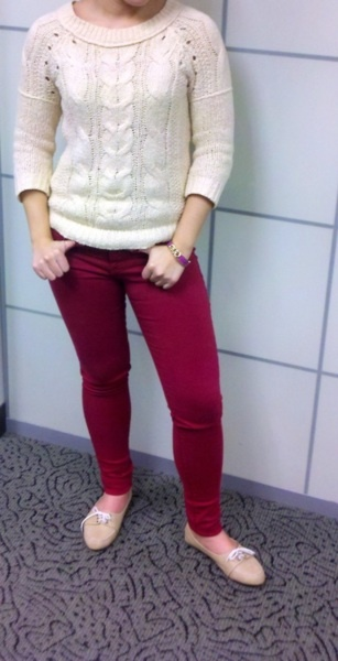 ...bright red skinnies!