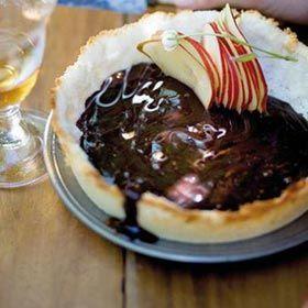 Dark chocolate and coconut tart