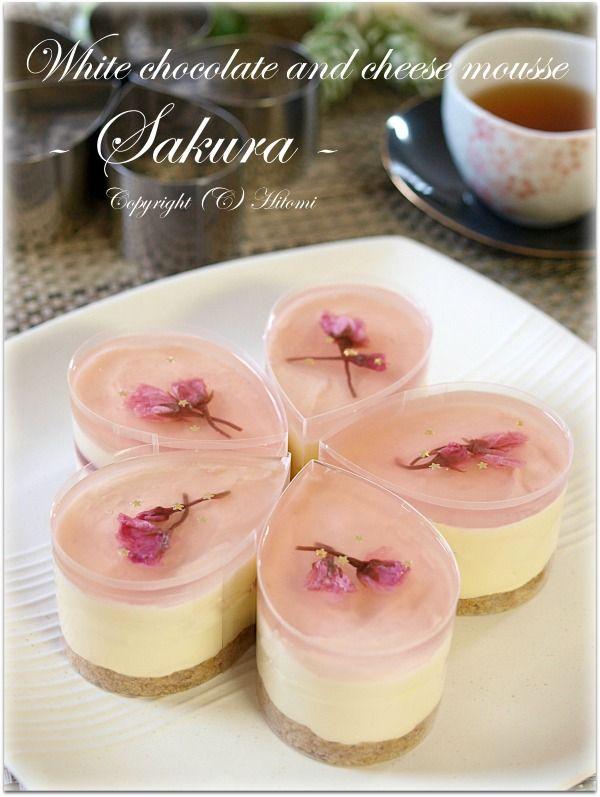 桜ホワイトレアチーズ(しずくセルクル)