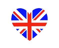 Union Jack Heart Union Flag Embroidery Design by BroderieCreative