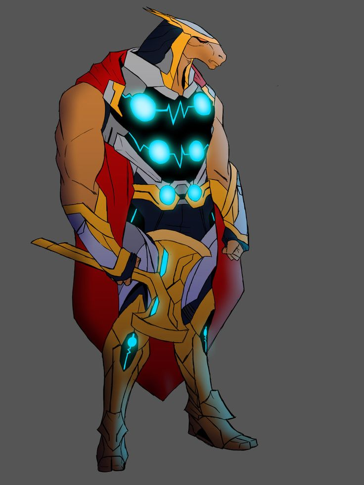 Lamario Taylor's Beta Ray Bill redesign for Project Rooftop.