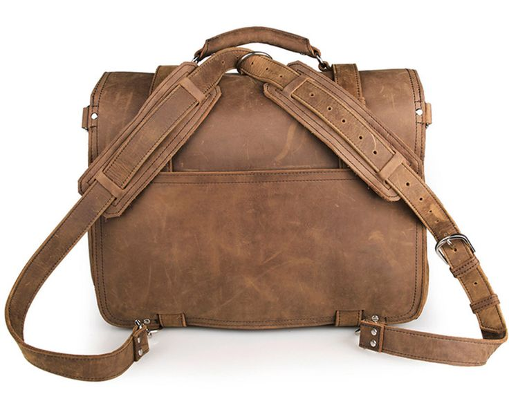 "ModernManBags.com - ""Santiago 3"" Men's Full Grain Distressed Leather Backpack"