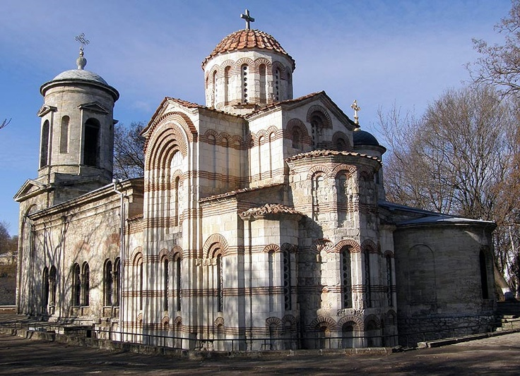 "Orthodox ""St John the Baptist"" in Kerch;  oldest church in the former USSR, Byzantine architecture and built in the beginning of the 8th century"