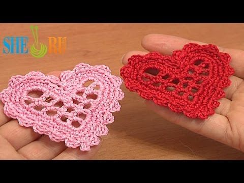 I wrote out directions for this.  Crochet Mesh Heart Tutorial 11 Valentine's Day, Wedding Ornament - YouTube