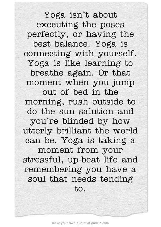 What yoga is.