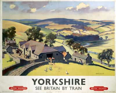 Yorkshire See Britain by Train on VintageRailPosters.co.uk Prints