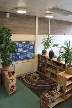 love the creative zen calm but creative feeling of this classroom space home office room calmly