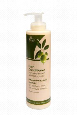 Conditioner met olijf-extract en tarwe-eiwitten. Natuurlijke haar conditioner