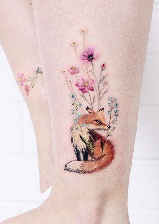 Lena Fedchenko fox tattoo