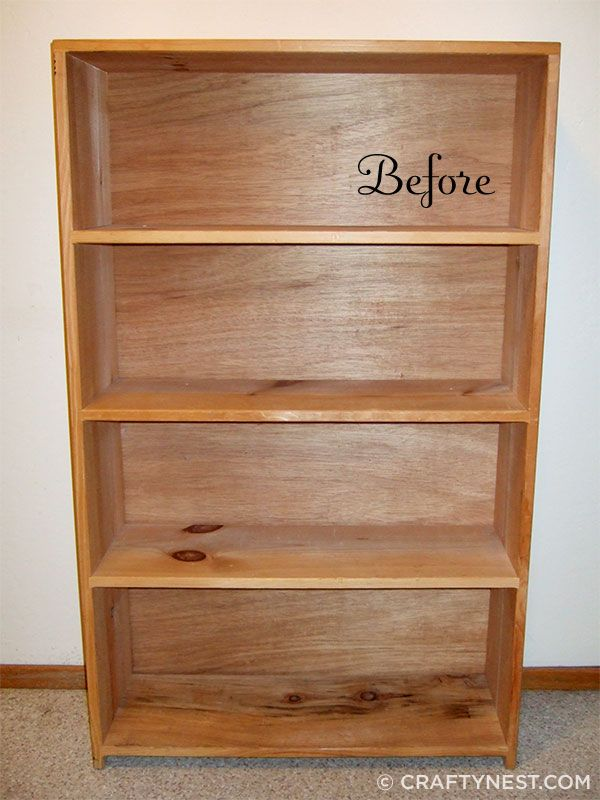 Plain bookshelf = fancy DIY china cabinet