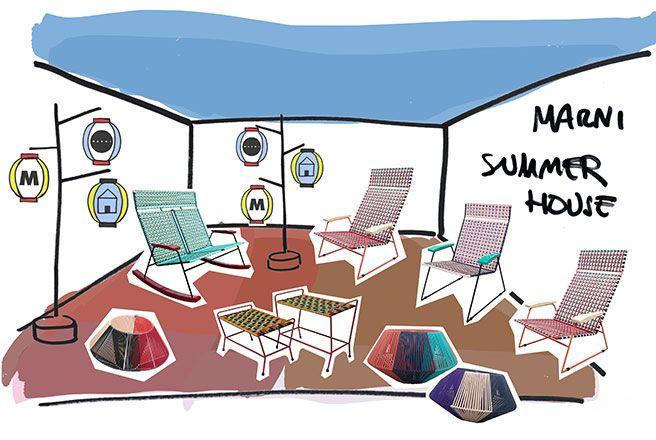 新作ホームコレクションに出会える期間限定イベントMARNI SUMMER HOUSEを開催