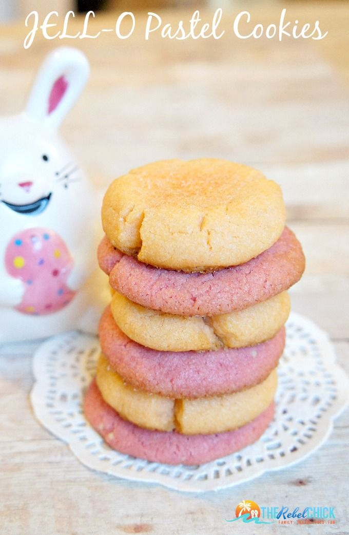JELLO Pastel Cookies Recipe, these easy JELLO cookies make a great Easter cookie recipe. (easter cookie recipes)