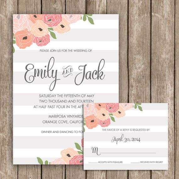 67 best images about Wedding invitation on Pinterest | Watercolors ...