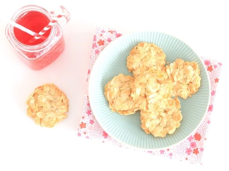 Gezonde amandelkoekjes (ei, honing, amandelschaafsel)-chickslovefood