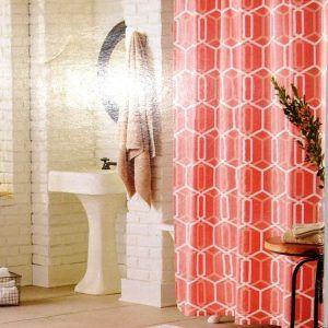 Modern Geo Fabric Shower Curtain
