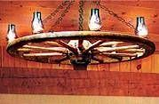 How to instructions for making a wagon wheel chandelier