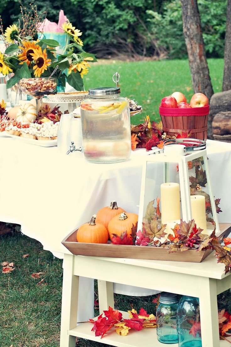 Just comin' up for air briefly to show you another fun baby shower that Kadie and I put together today. We went with a Fall theme and it was...