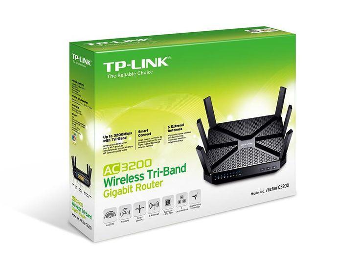 TP-Link Archer C3200 Routeur Gigabit Wi-Fi Tri-bandes AC 3200Mbps (2.4GHz 600Mbps, 2 faisceaux 5GHz 1300Mbps, 5 ports Gigabit, 2 ports USB): Amazon.fr: Informatique