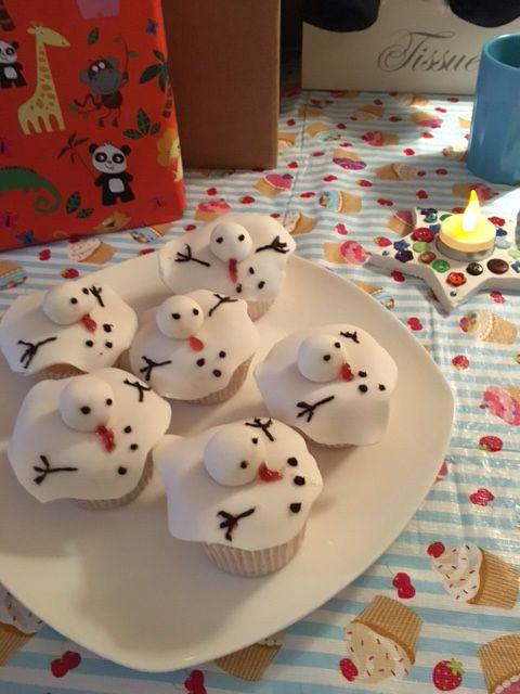 Cupcake's gesmolten sneeuwpop