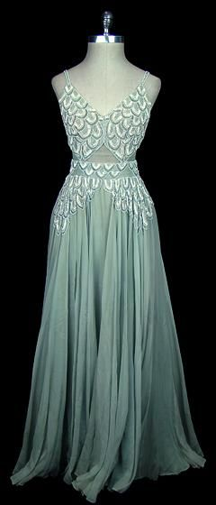 1930's Frock.  I sure hope whoever wore this dress had a FABULOUS evening and had someone she loved tell her how stunning she looked in it.