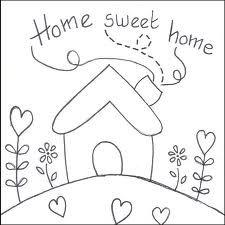 Apliquê casinha Home sweet home