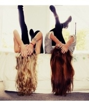 If you're looking for fun pictures to take with a friend... This would be so cool! I'm going to do this one day!