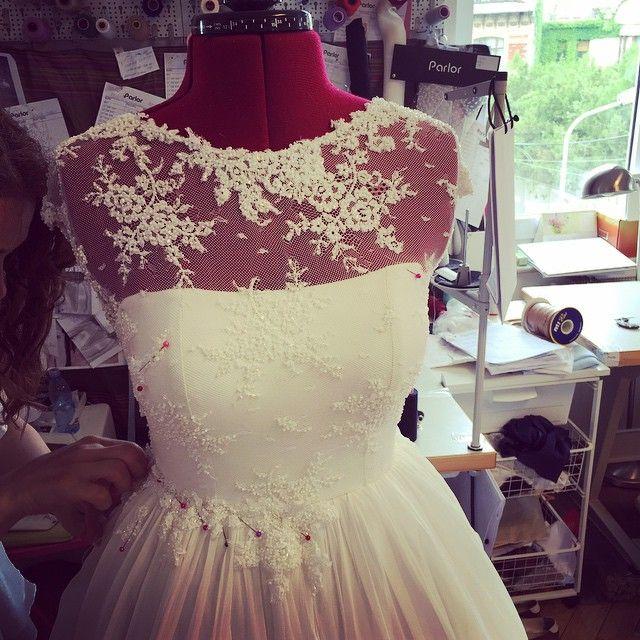 Bride to be...#parlorstudio #parlorbride #parlorwedding #handmade #lace #silk #embroidery #ido #wedding #weddingplanning