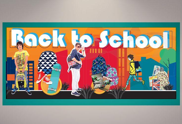 Back to school window display