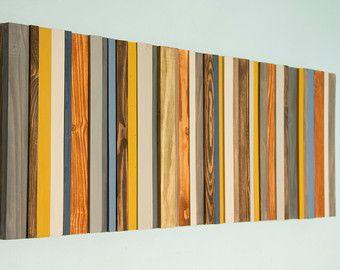 Reclaimed Hout kunst, moderne kantoor inrichting, teruggewonnen hout muur kunst sculpture, costomize