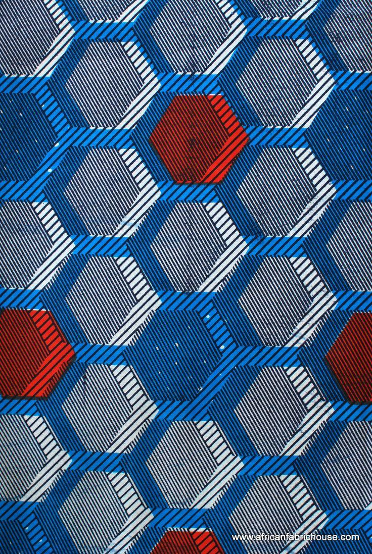 Hexagon blue pattern language pinterest patterns for Textile fabrics
