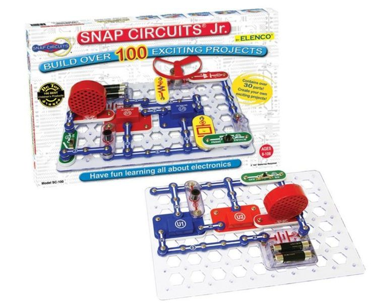 Snap Circuits Electronics Discovery Kit STEM Electric Circuit Model Toy Machine #Elenco