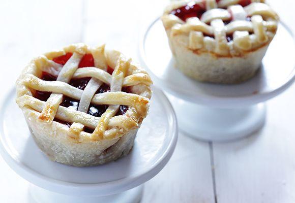 Baked mini pies.