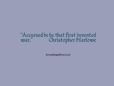 Today marks the birth of Christopher Marlowe, author of Dr Faustus and the man who influenced Shakespeare, here are 8 quotes for your enjoyment.
