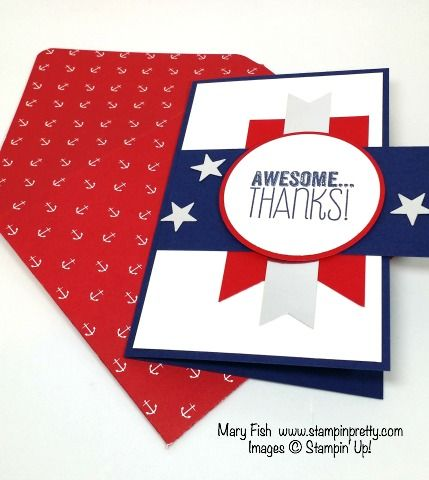 Salute! Memorial Day Thank You Card! | Stampin' Pretty
