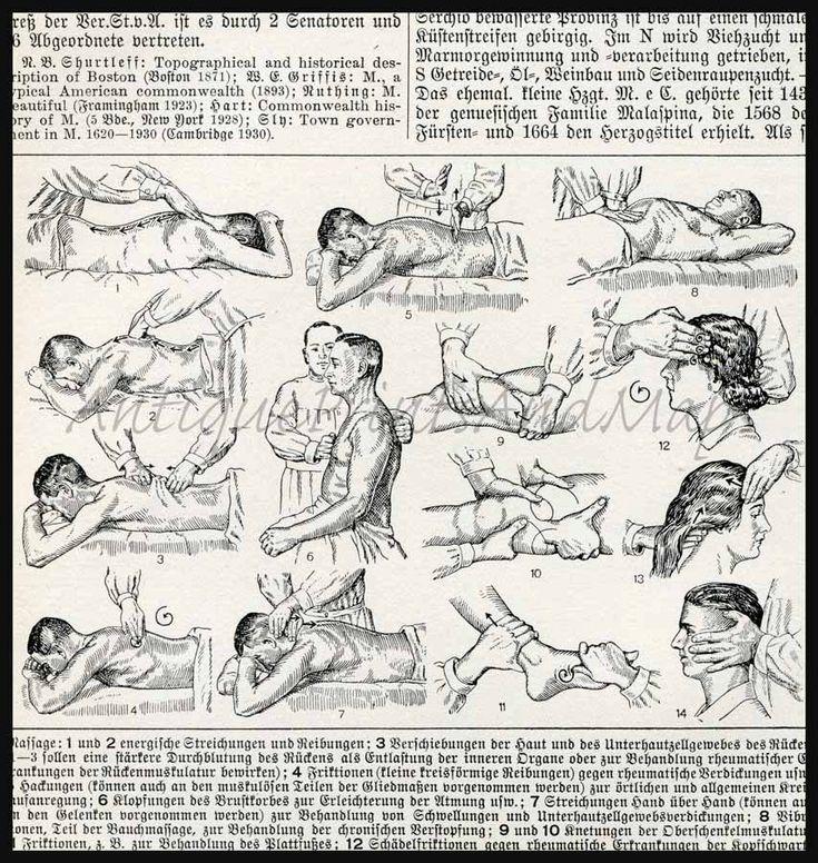 Medical Massage Illustration 1930sReal Massage, Medical Massage, History Massage, Massage Medium, Massage Therapy, Massage Illustration, Antiques