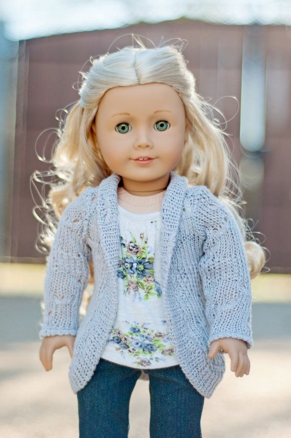Trendy Slouch Cardigan for an American Girl Doll or Other 18 Inch Dolls on Etsy, $13.75
