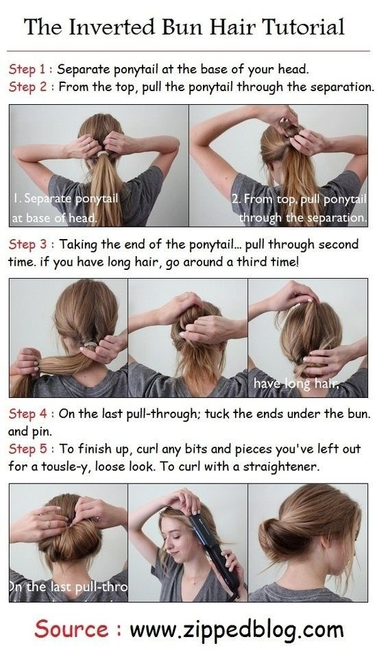 Everyday-Hairstyles-Tutorials-Inverted-Bun-Updos.jpg (550×962)